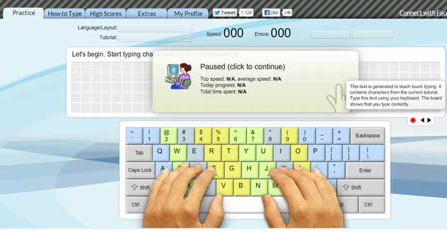 how to learn to type online