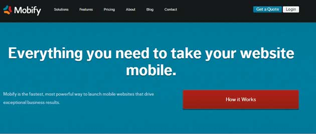 create a mobile website with mobify