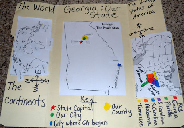 HandsOn Map Activity - Georgia map key
