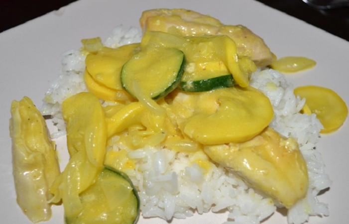 curry chicken veggies