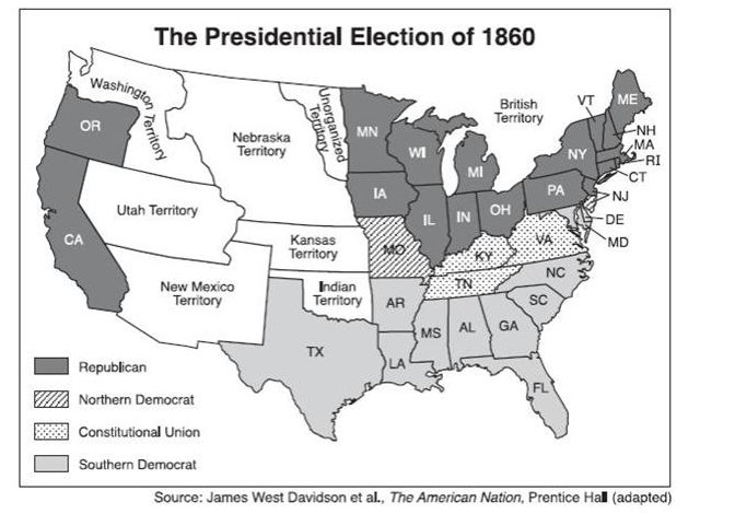 the presidental election of 1860 essay