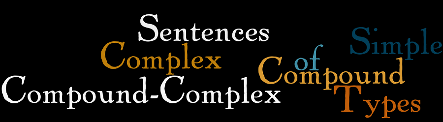 Types of Sentences: Simple, Complex, Compound and Compound Complex Sentences