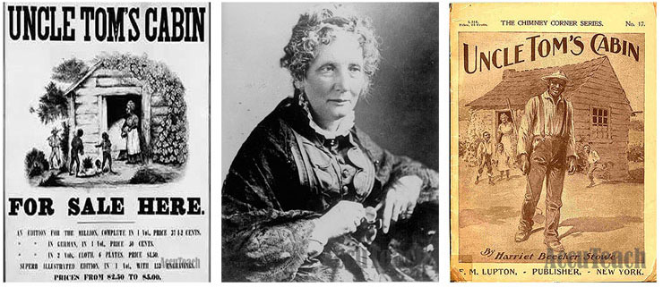 a reaction to harrier beecher stowes uncle toms cabin Stowe, harriet beecher, 1811-96, american novelist and humanitarian, b litchfield, conn with her novel uncle tom's cabin, she stirred the conscience of americans concerning slavery and thereby influenced the course of american history.