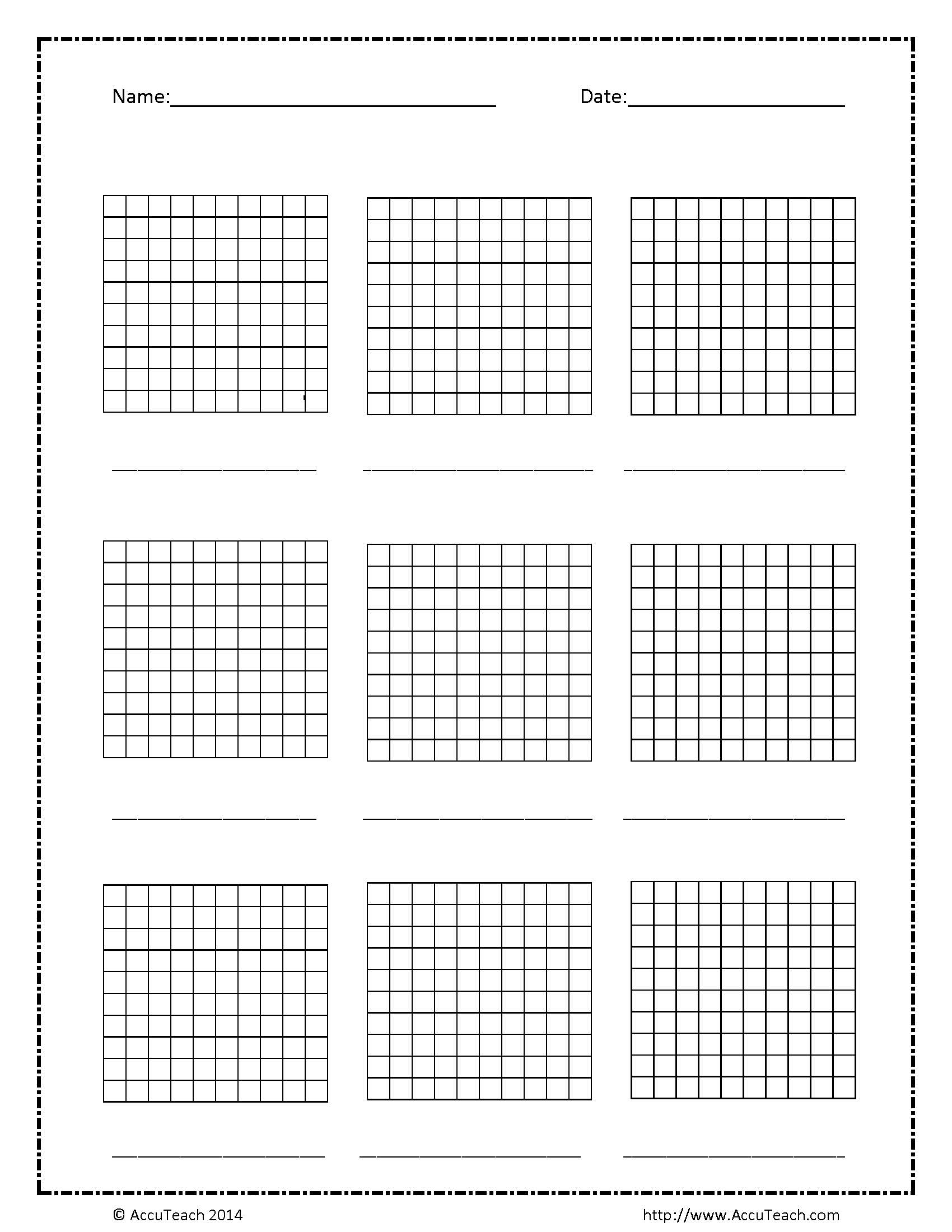 Geeky image in printable hundredths grids