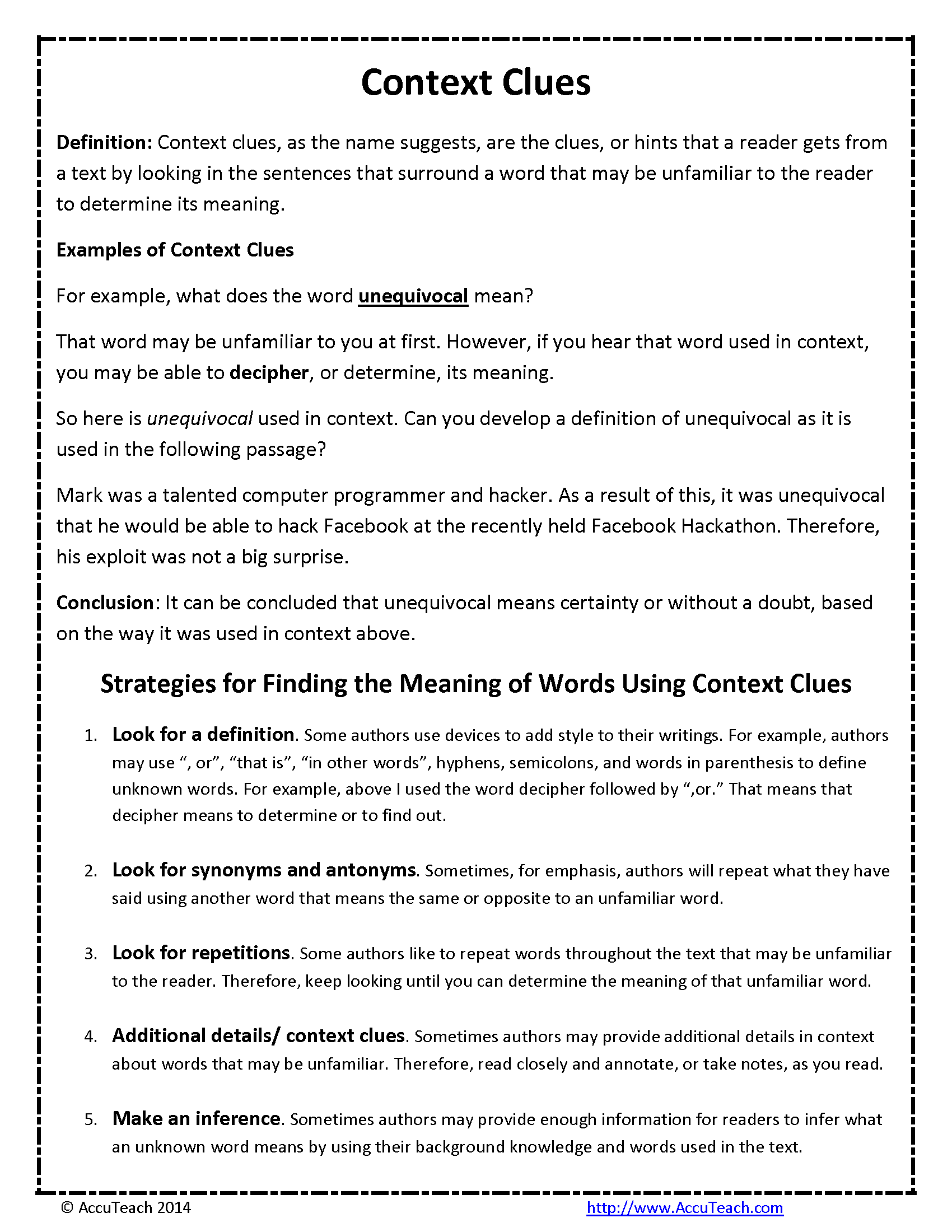 Teaching Context Clues 3rd Grade Powerpoint Lawteched – Context Clues Worksheets 3rd Grade