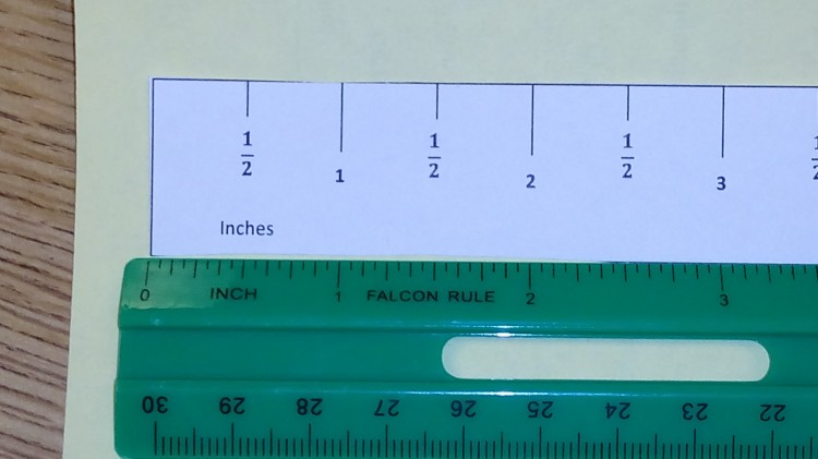 printable quarter inch ruler